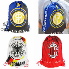 Drawstring Nylon Shoes Sack Gym Backpack Bag Book Sport Clothes Travel Outdoor