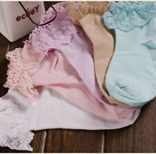 Vintage Cute Lovely Lace Ruffle Frilly Ankle Socks Ladies Princess Girl Women