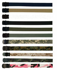 Camouflage/Solid Colors 100% Cotton Military Web Belts