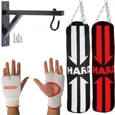 Punch Bags Set Punching Boxing Sets Heavy Punchbags Gloves Bracket Chains