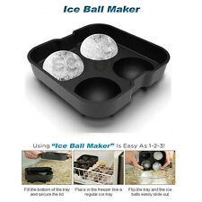 Silicon Whiskey Ice Cube Ball Maker Mold Sphere Mould Brick Party Tray Round Bar