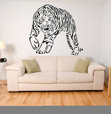 Tiger Vinyl Wall Art Decal Mural Sticker large, Giant Stickers Animal Image A131