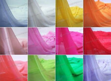 1 yard wedding material Georgette chiffon Soft Fabric all Color Lining 59""