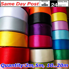 """Satin ribbon 25mm 1 """", All colors, LENGTH from 2m 10m 50m to 100m, Sewing Craft"""