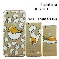 Cute Japanese Catoon Gudetama Egg Clear Case Back Cover For iPhone 5/5s/6/6 plus