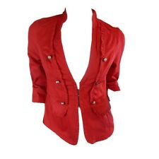 NEW LADIES CROSSROADS RED MILITARY JACKET SIZE 8,10,12,14,16,18,20,22 RRP $59.99