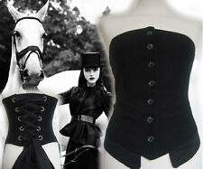 ALL SAINTS Equestrian Corset victorian steampunk gothic medieval gypsy costume