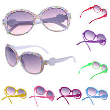 Kid Girls Plastic Frame Sunglasses Sweet Baby Cartoon Flower Design Eyeglasses