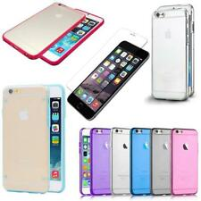 Ultra Thin iPhone 5, 5S & 6 TPU case covers & Tempered Glass Screen Protector