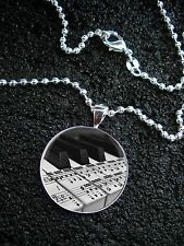 Sterling Silver Piano Keys Musical Notes Musical Notation NECKLACE