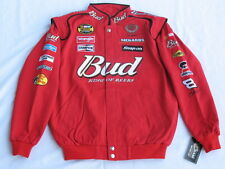 Dale Earnhardt Jr. Budweiser NASCAR Jacket by Chase! Sizes: M, L, XL or 2XL