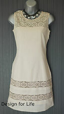 NEW Monsoon White Cotton Lace/Broderie Shift Dress size 10 - RP £72