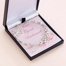 ANY Name Bracelet for Flower Girl or Bridesmaid, High Quality, No Plastic.