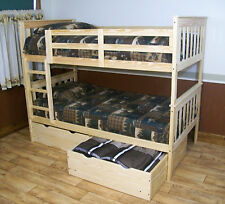 Amish Made Solid Wood Bunk Bed  W/Trundle NEW FREE SHIPPING