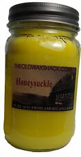 Honeysuckle - Pure Soy Candle - Hand Poured In Mason Jar