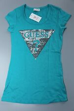 NEW NWT Womens GUESS T Shirt Embellished Tracy Tee Green Size XS S M L XL