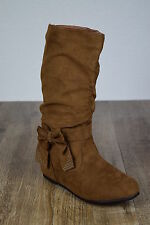 Womens New Riding Boots Knee High Fashion Faux Suede Slouch Stylish Shoes Size