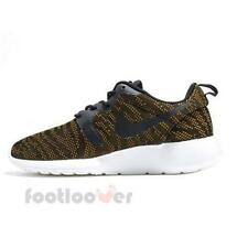 Shoes Nike womens Roshe Run 705217 700 Mesh Moda sneakers Gold Black AU