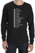 Beard Scale Long Sleeve T-Shirt Fear the Hipsters Parody Beard Men Duck No Shave