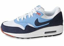 Nike Air Max 1 GS trainers white & blue 555766 114 UK Size 4, 5, 5.5,