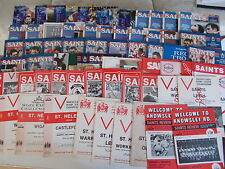 St Helens Rugby League Home Programmes 1980 - 1995 Choose individual programmes