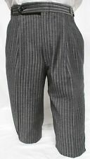 30-31-32 Mens Vintage Gray Hickory Stripe Morning Trouser Pant Victorian Dickens