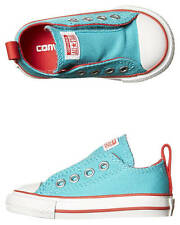 New Converse Girls Tots Chuck Taylor All Star Slip Shoe Canvas Shoes Green