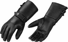 MEN'S ULTRA LONG GENUINE AMERICAN DEER SKIN LEATHER GLOVES BUTTER SOFT BLACK NEW