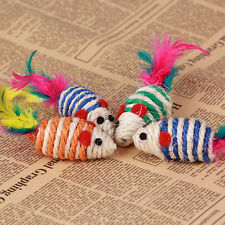 Pet Cat Kitty Scratch Colorful Pole Scratching Sisal Toy Cute Mouse