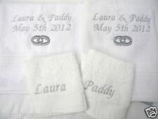 Embroidered Personalised Bath Towels & Face Cloths 100% Cotton For Anybody Gift