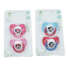 Disney Minnie Mickey Mouse baby dummy soother pacifier 2 pk boy girl 3m+