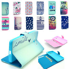 Folio Flip PU Leather Wallet Case Cover Stand For Various Samsung Galaxy Phone