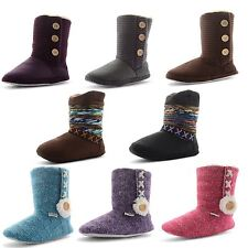 Womens Ladies Slippers Boots Coolers Snug Warm Fur Lined Booties Girls Size UK