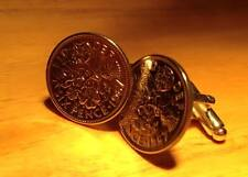 Lucky sixpence 6d coin cufflinks Unique Gift - Choose your dates 1947-1967