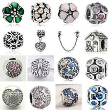 925 Sterling Silver European Charms Bead For 3mm Bracelet Snake Chain Necklace