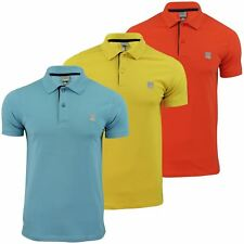 Mens Polo Shirt by Bench 'Crystalline-B' Stretch Pique Short Sleeved