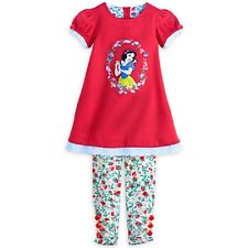 NEW DISNEY SNOW WHITE DRESS AND LEGGINGS SET SIZE 3,4,5-6