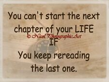 Next Chapter of Your Life Book Quote Original Typography Matted Picture A741