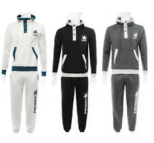New Mens Addicted Print Logo Casual Pullover Fleece Sports Track Jogging Suit