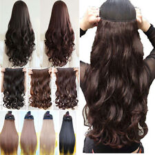 Uk Seller Finest Clip In Hair Extensions Heat Resistant Real Feel For Human Tfs