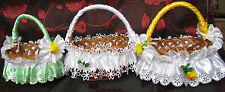 Beautiful Basket Decorations Easter White Napkin Handle Bows Easter -- sxdc