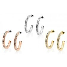 25mm Hoop Earrings with Crystals from Swarovski® in Gift Box