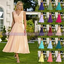 New Arrival Bridesmaid Dress Formal Party Evening Dress Tea Length Prom Dress