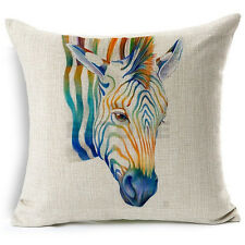 Style European Printed Pillow Linen Case Cotton Animal Cushion Cover Square 17""