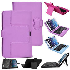 Detachable Removable Wireless Bluetooth Keyboard Portfolio Leather Case For Acer