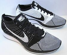 NIKE FLYKNIT RACER BLACK TONGUE WHITE 6-- 12 multicolor trainer htm lunar mc