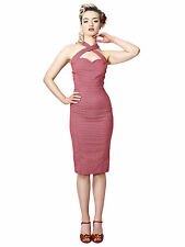 Collectif Penny 1950s Style Rockabilly Pinup Pencil Wiggle Dress