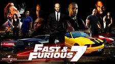 Fast and Furious 7 Hot Movie Fabric poster 24