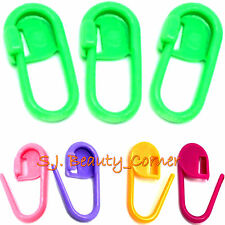 Stitch Markers Holders x 12 - For Knitting Crochet Craft -Colourful Plastic-New