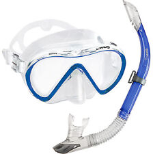 US Divers Stylish Quality Comfortable Adult Mask & Dry Top Snorkel Set Combo